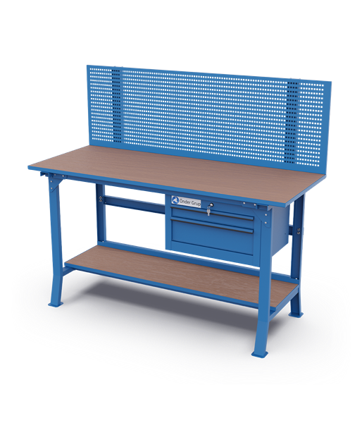 Workbenches – Perfo Panel + 2 Drawes