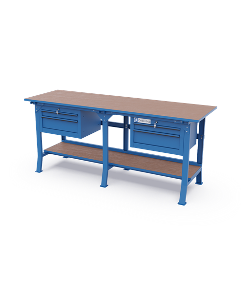 Long Workbenches – Double Drawer Cabinets