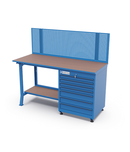 Workbenches – Perfo Panel + 7 Drawers